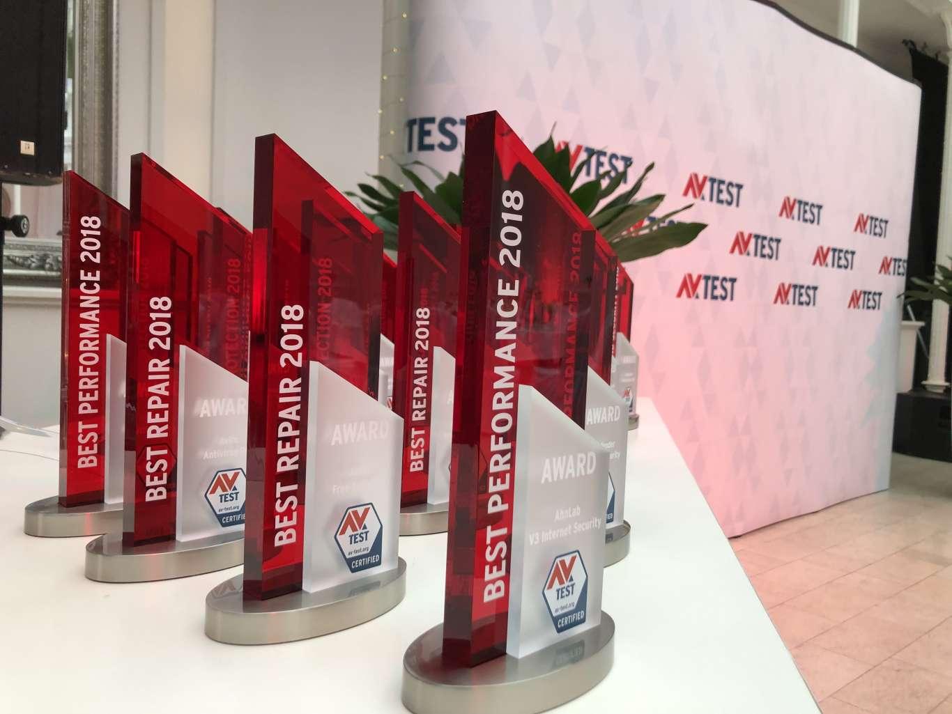 Die AV-Awards Preisverleihung in Erfurt. Ausgezeichnet wurden die Gewinner des Jahres 2018 in neun verschiedenen Kategorien.